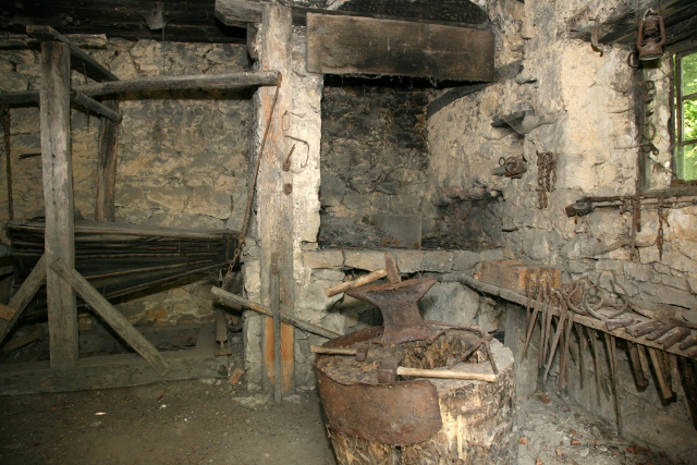 Žegar - the preserved forge at Obrez