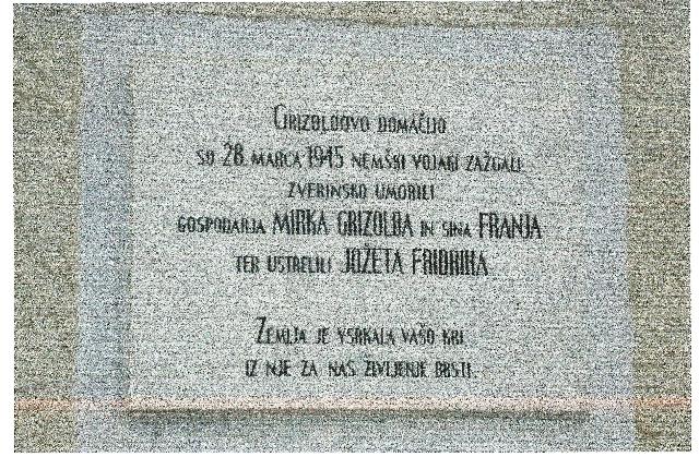 Homestead of the gendarme Mario Grizold